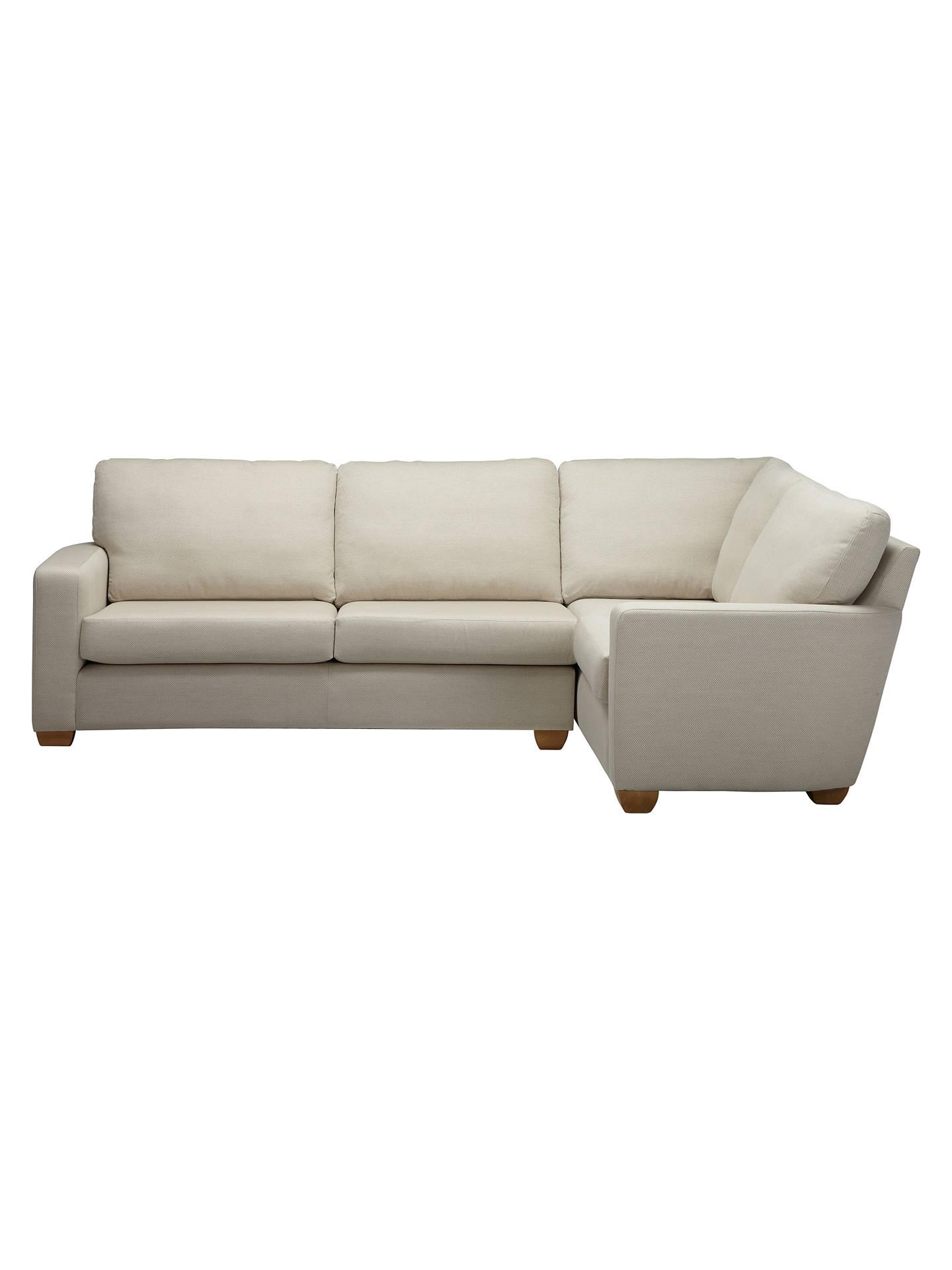 John Lewis Gino Rhf Medium Corner Sofa Checkmate Natural At John