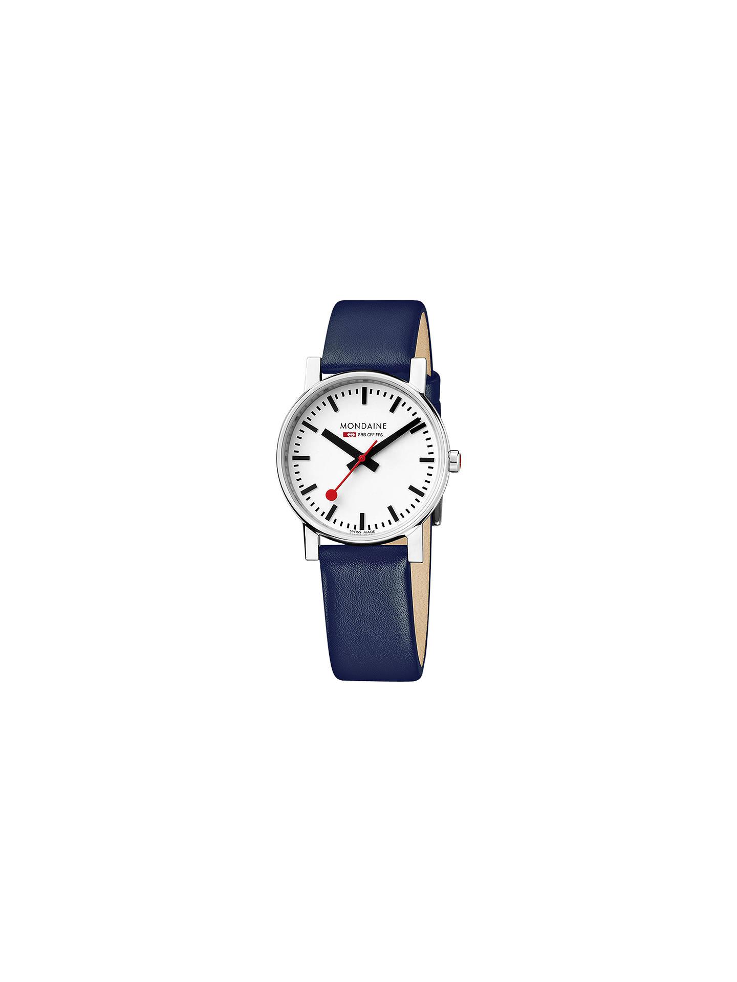 Mondaine Unisex Exclusive Leather Strap Watch at John Lewis   Partners 7a5e6ccf16