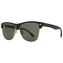 Buy Ray-Ban RB4175 Oversized Clubmaster Sunglasses, Black Online at johnlewis.com