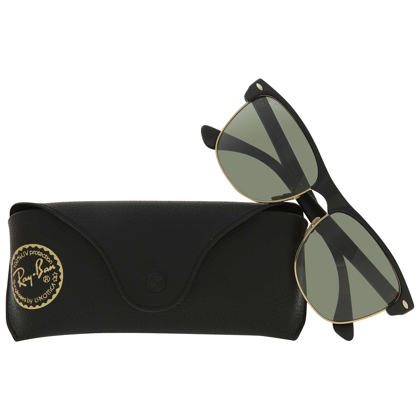 BuyRay-Ban RB4175 Oversized Clubmaster Sunglasses, Black Online at johnlewis.com
