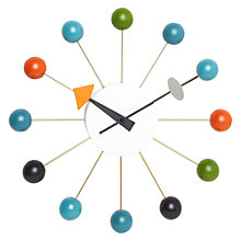 Buy Vitra Ball Clock, Multi, 33cm Online at johnlewis.com