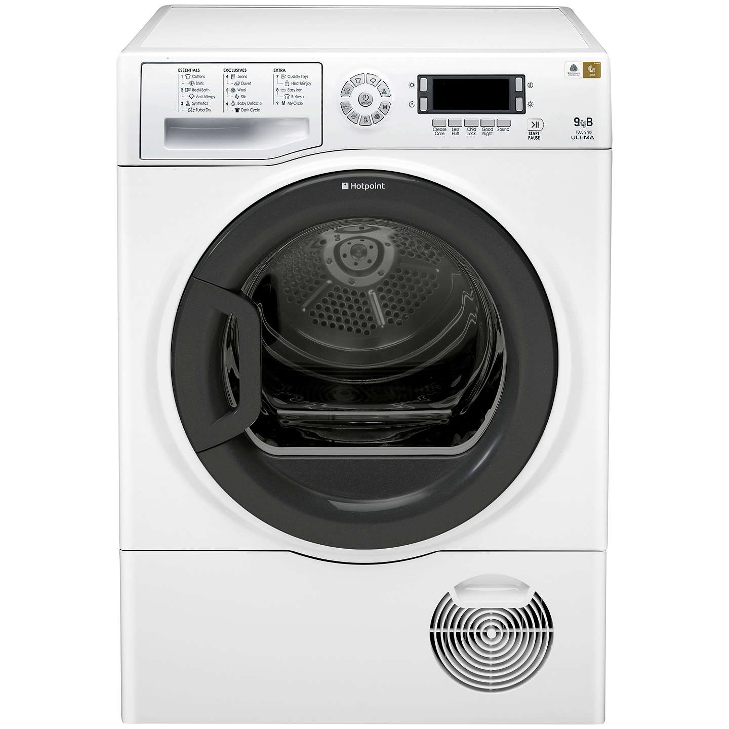 Buyhotpoint Signature Tcud97B6Hm Condenser Tumble Dryer, 9Kg Load, B Energy