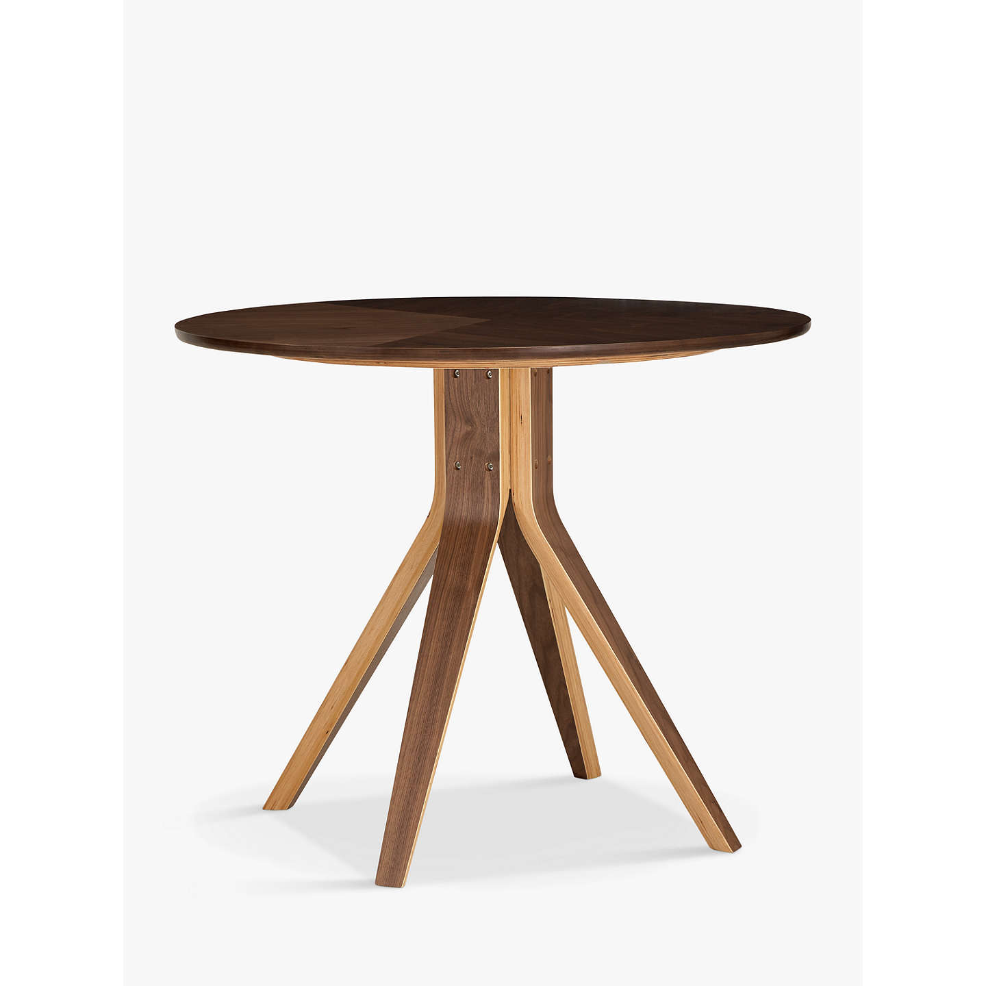John Lewis Radar 4 Seater Round Dining Table Walnut At Johnlewis Com