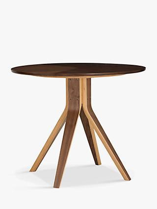House By John Lewis Radar 4 Seater Round Dining Table, Walnut