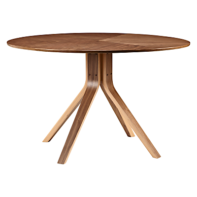 John Lewis Radar 6 Seater Round Dining Table, Walnut