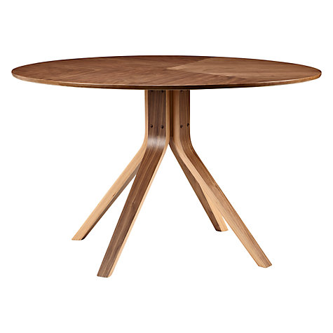 Buy John Lewis Radar 6 Seater Round Dining Table, Walnut Online at johnlewis.com