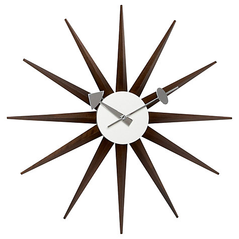 buy vitra sunburst wall clock john lewis. Black Bedroom Furniture Sets. Home Design Ideas