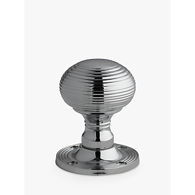 Image of John Lewis Reeded Mortice Knob, Pair, Dia.53mm