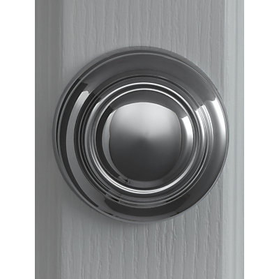 Image of John Lewis & Partners Sloane Square Oversized Centre Pull Knob, Dia.102mm, Polished Chrome