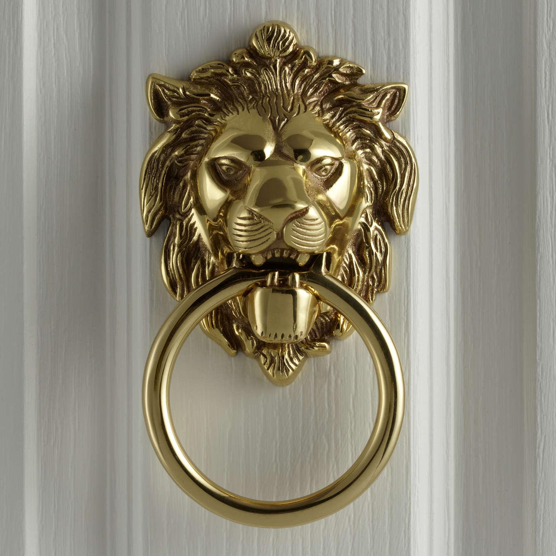 Beau BuyJohn Lewis Lionu0027s Head Door Knocker, L14 X W10.5cm, Polished Brass  Online ...
