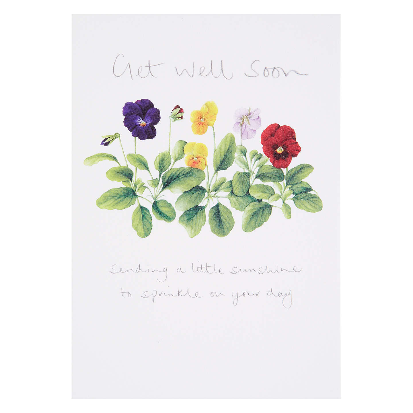 Woodmansterne Get Well Greeting Card At John Lewis