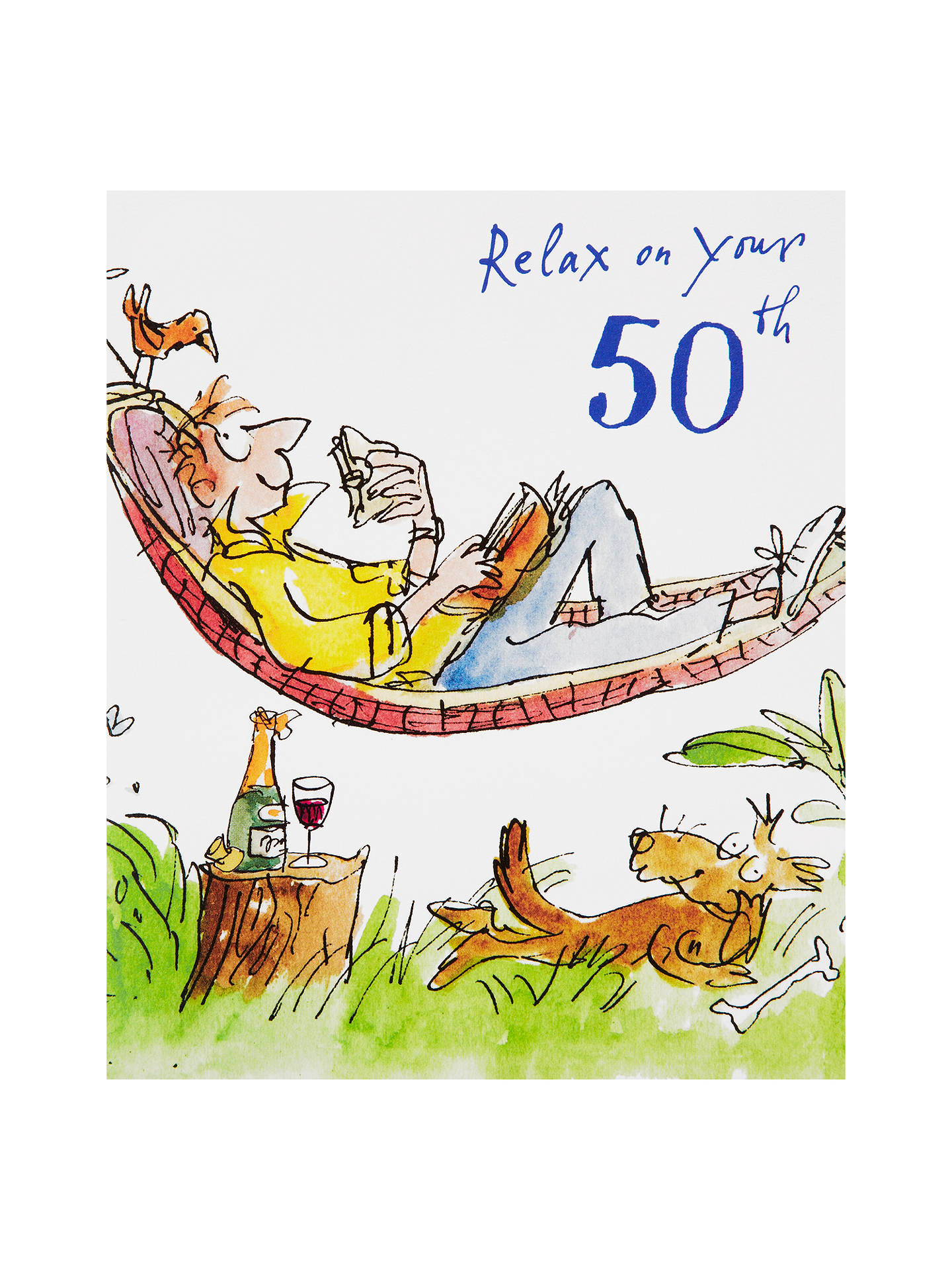 BuyWoodmansterne Man Lying In Hammock 50th Birthday Card Online At Johnlewis