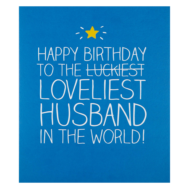 Happy Jackson Loveliest Husband Birthday Card At John Lewis
