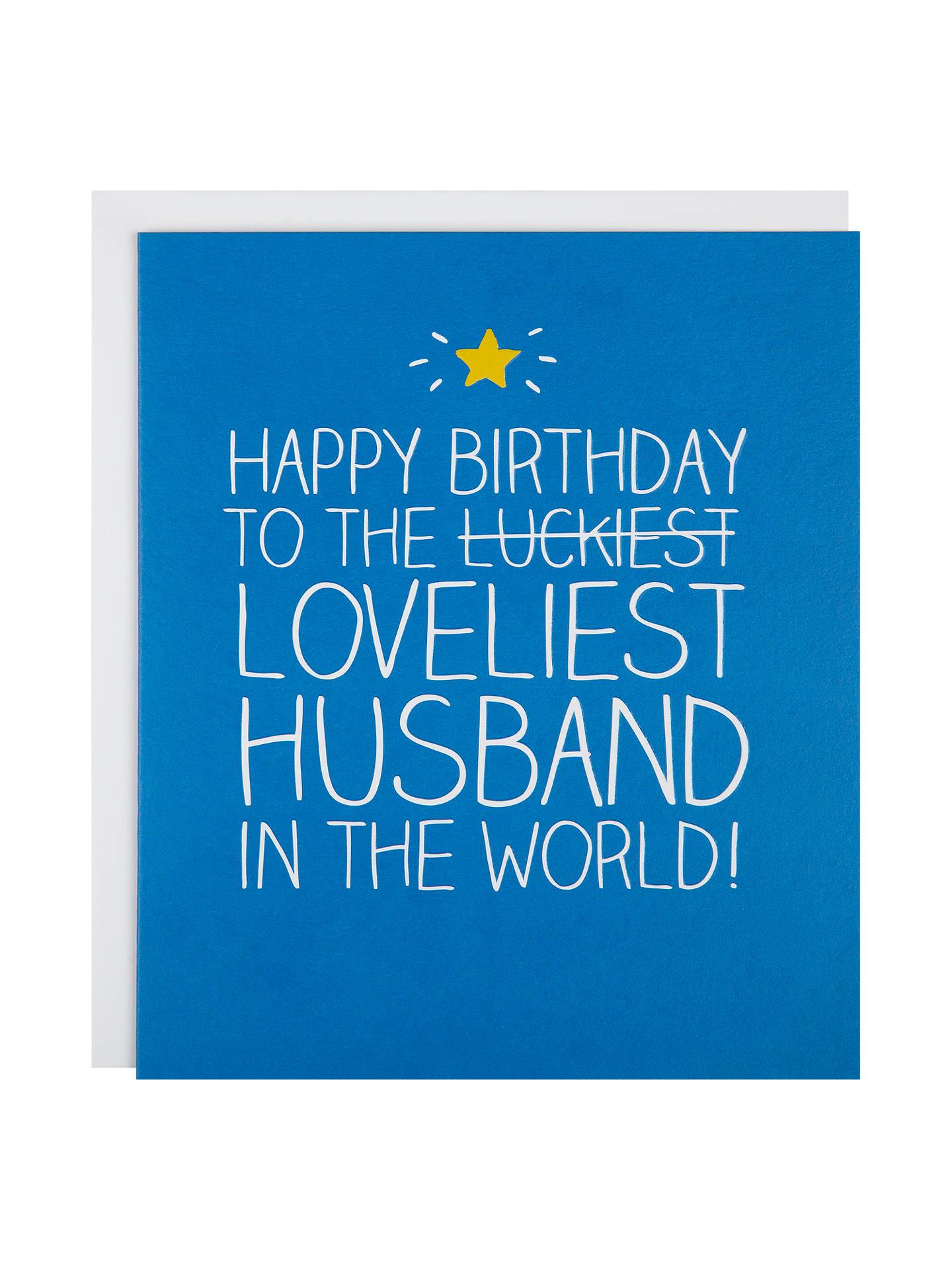 Happy Jackson Loveliest Husband Birthday Card