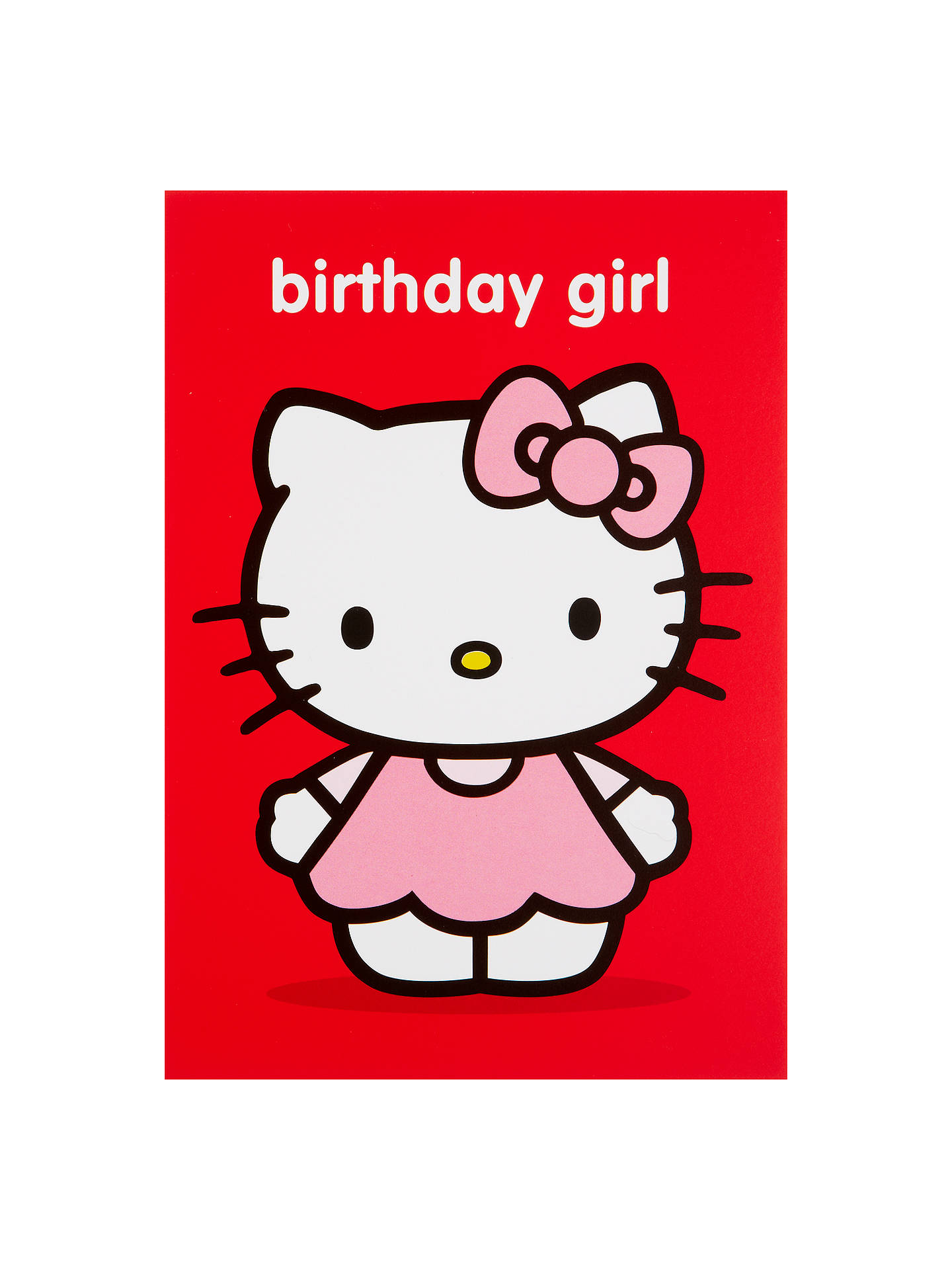 hype hello kitty birthday girl birthday card at john lewis