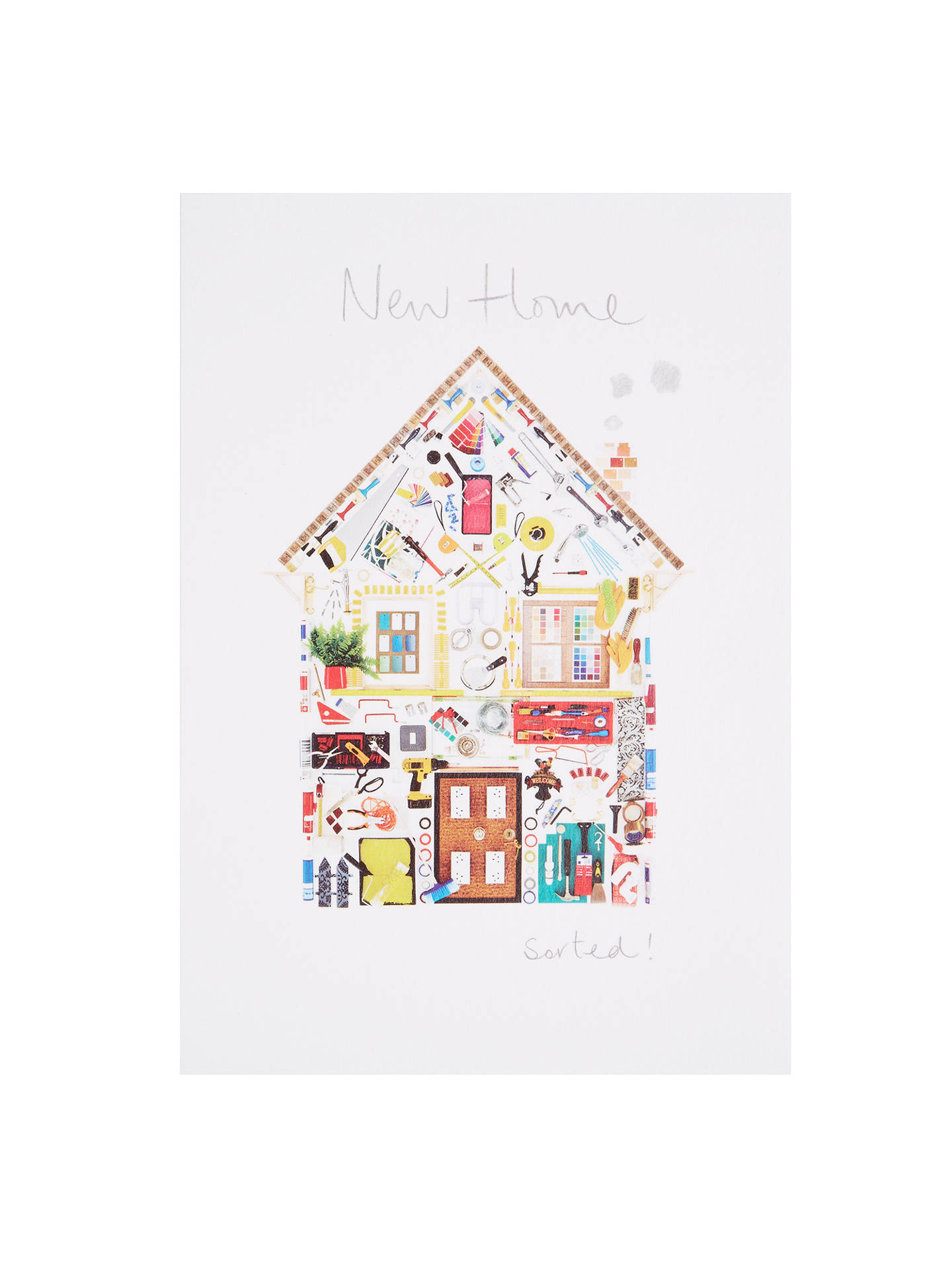 Woodmansterne House Of Diy Objects New Home Greeting Card At John