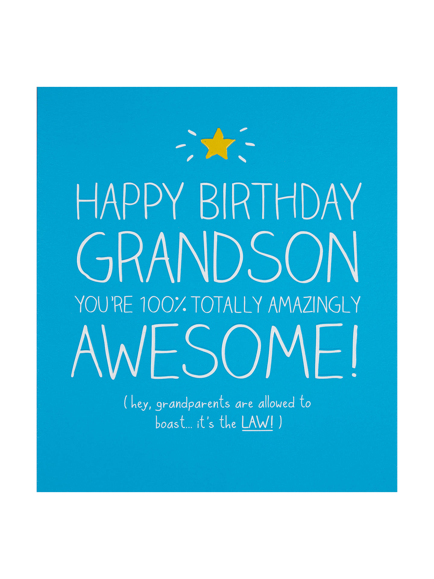 Happy Jackson Grandson 100 Totally Awesome Birthday Card At John Lewis Partners