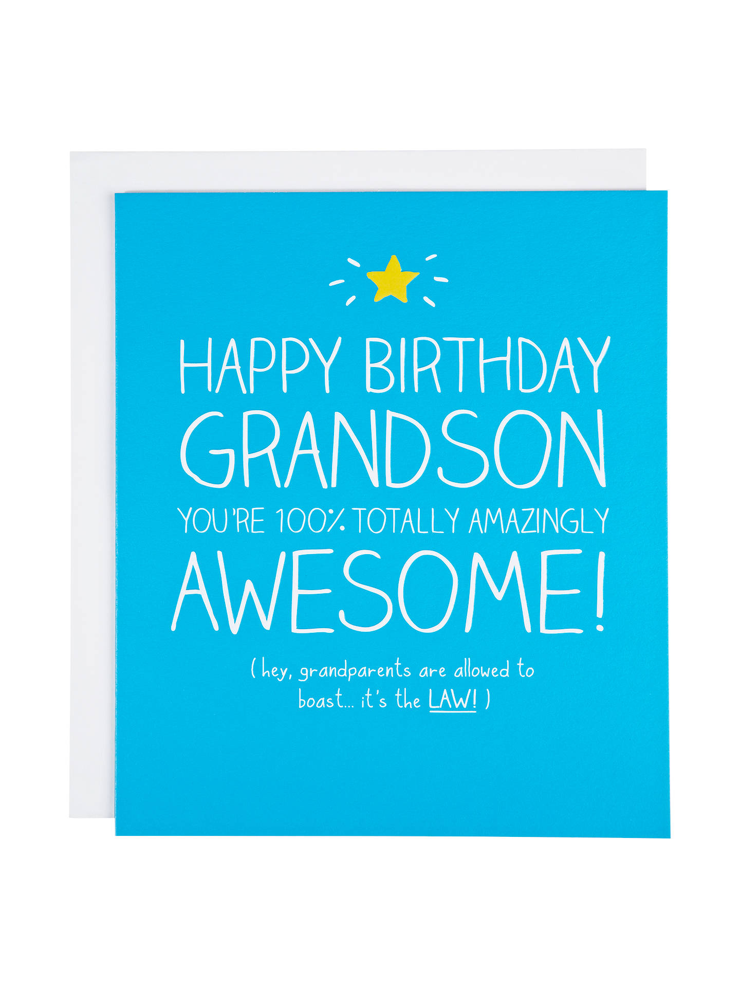 Happy Jackson Grandson 100% Totally Awesome Birthday Card