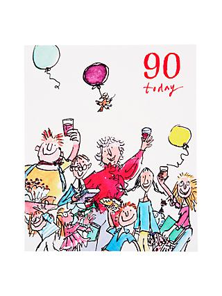 Woodmansterne Toasting 90th Birthday Card
