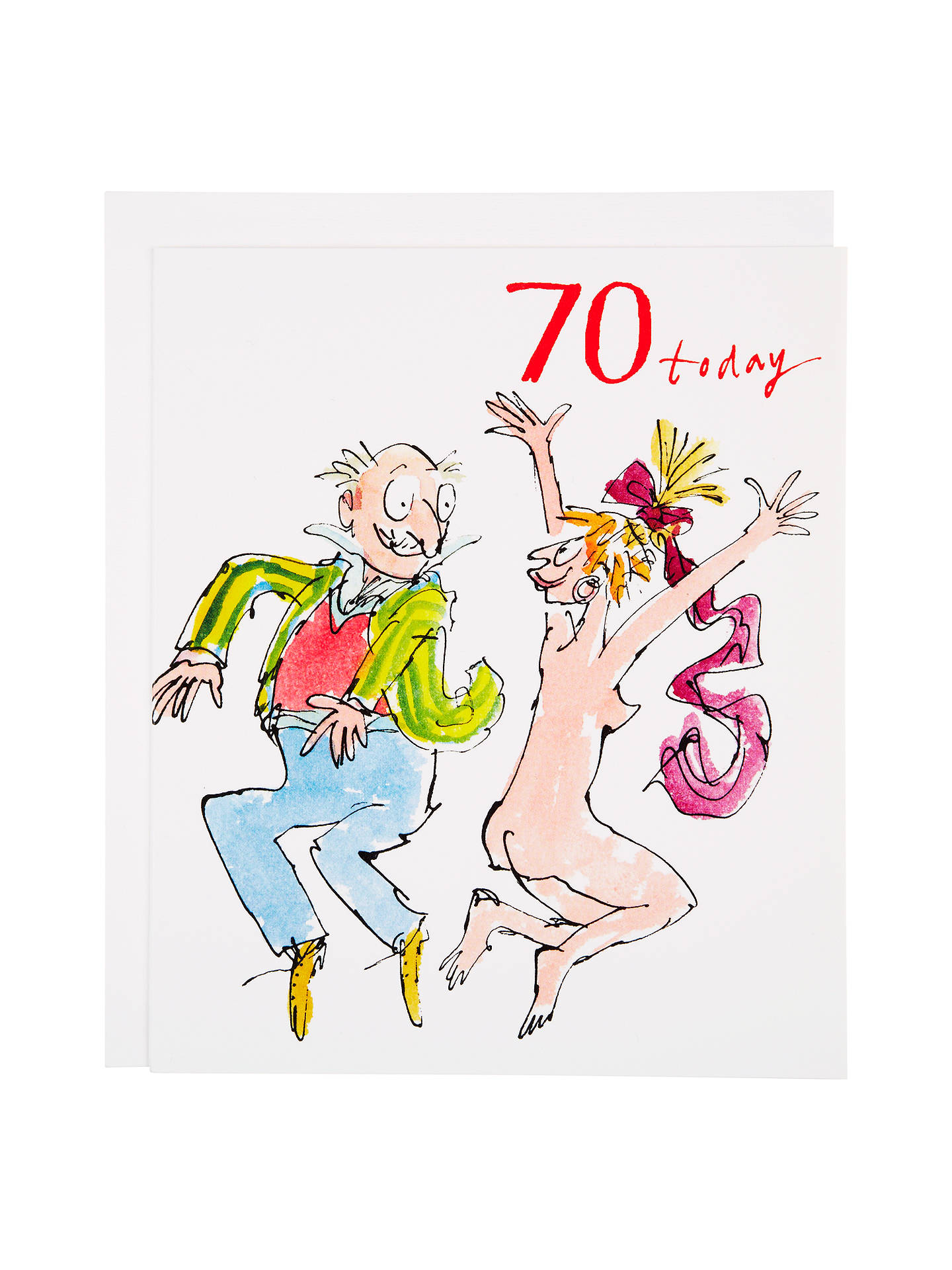 Buy Woodmansterne Man Jumping 70th Birthday Greeting Card Online At Johnlewis