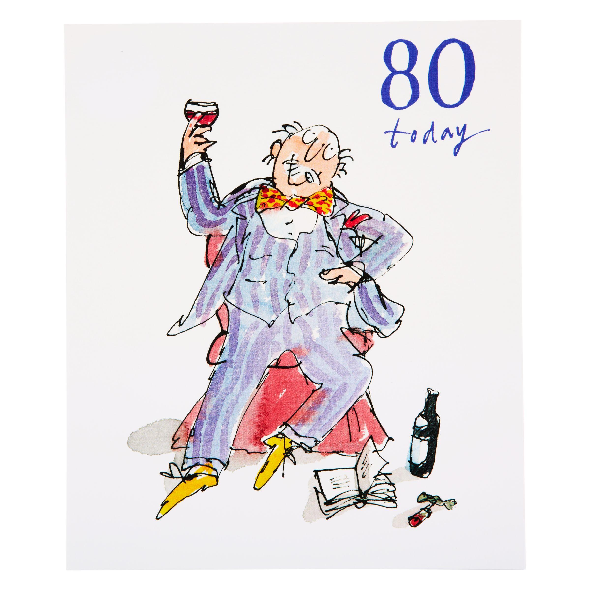 Woodmansterne Soaking Feet 80th Birthday Card At John Lewis Partners