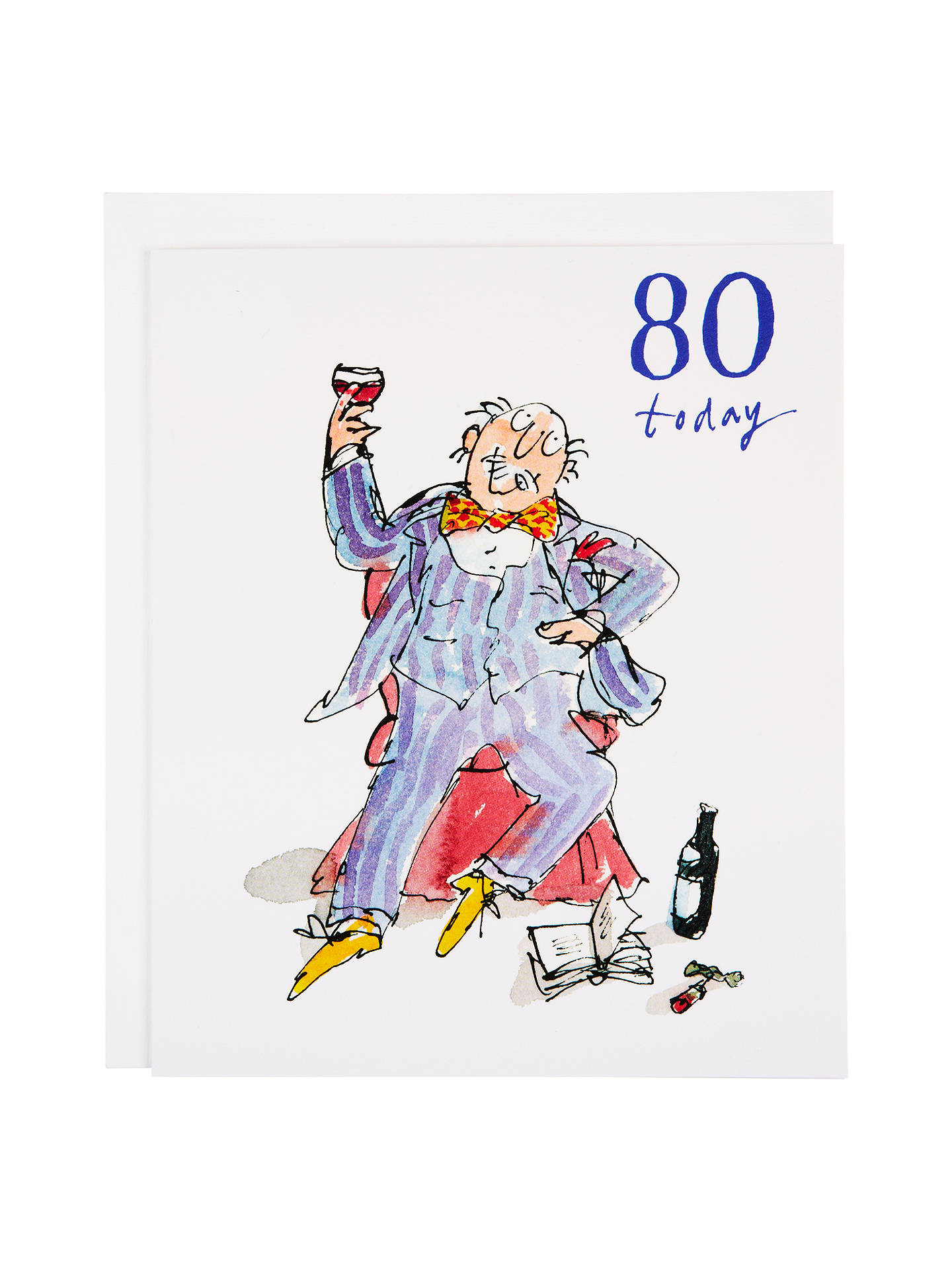 BuyWoodmansterne Soaking Feet 80th Birthday Card Online At Johnlewis