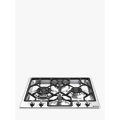 Image of Smeg PGF64-4 Classic Ultra Low Profile 60cm Gas Hob in Stainless Steel