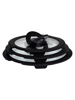 Tefal Ingenio Glass Pan Lid Set, 3 Piece