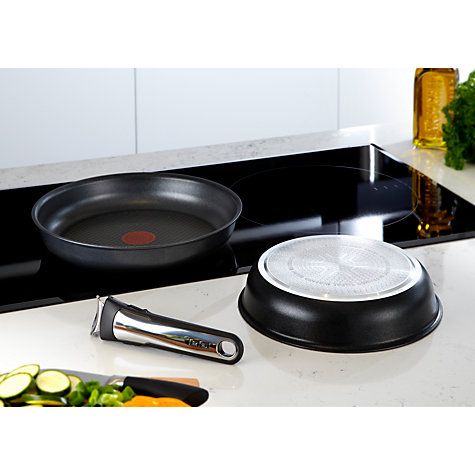 Buy Tefal Ingenio Induction Frying Pan Set, 3 Piece Online at johnlewis.com