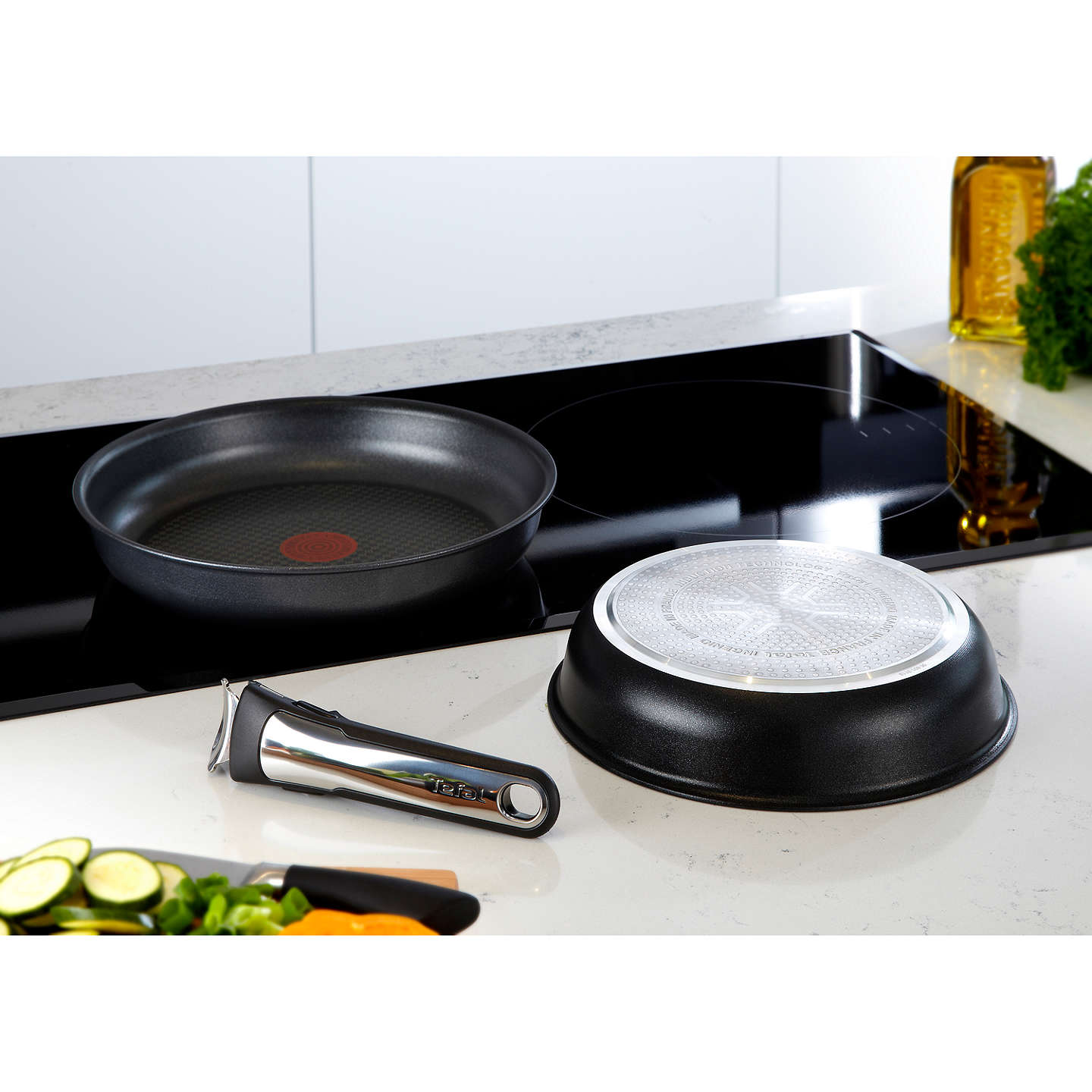 tefal ingenio induction frying pan set 3 piece at john lewis. Black Bedroom Furniture Sets. Home Design Ideas
