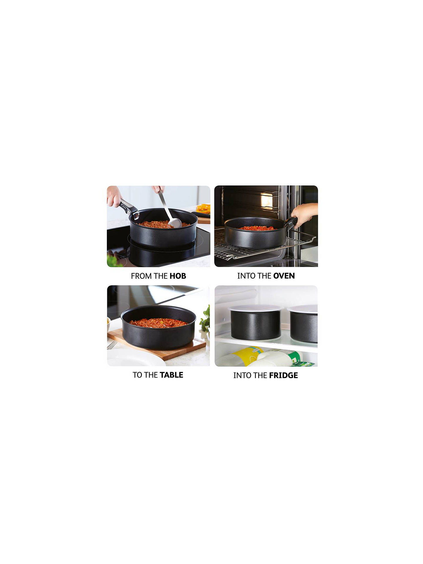 Buy Tefal Ingenio Bakelite Handle, Black Online at johnlewis.com