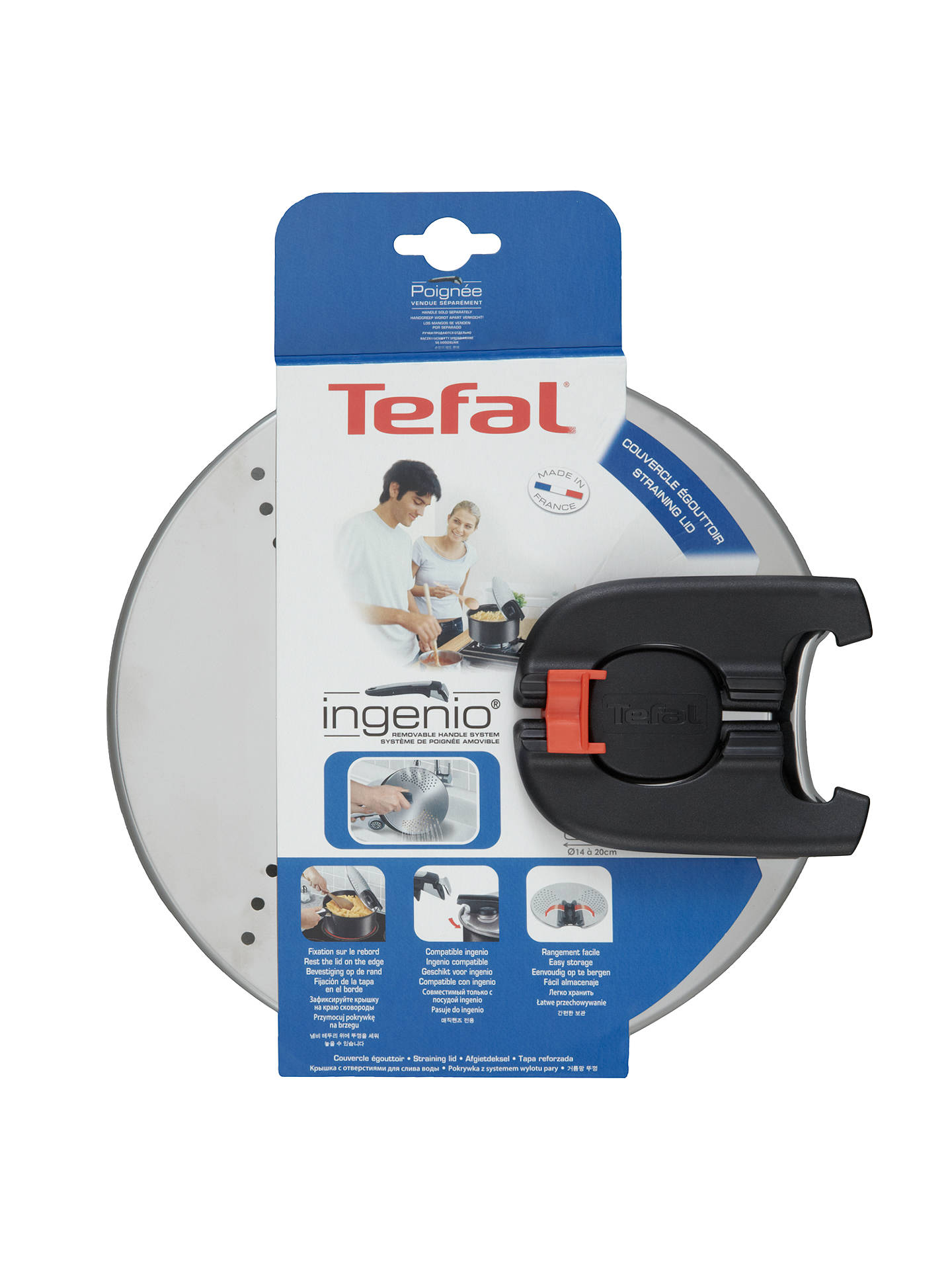 Buy Tefal Ingenio Straining Lid, 20cm Online at johnlewis.com