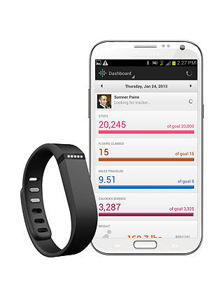 Black for sale online Fitbit Flex Wireless Activity Wristband