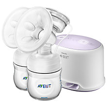 Buy Philips AVENT SCF334/02 Comfort Double Electric Breast Pump Online at johnlewis.com