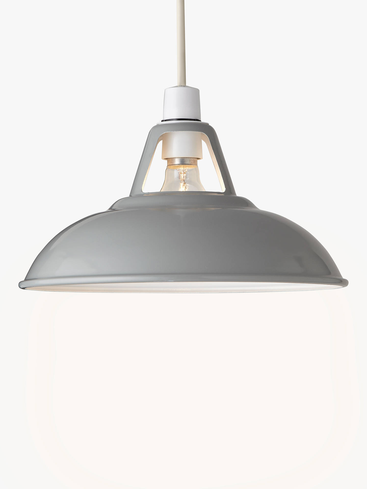Buy Croft Collection Campbell Easy-to-Fit Ceiling Shade, Grey Online at johnlewis.com