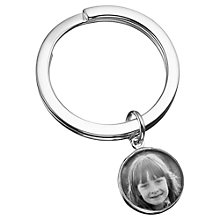 Buy Under the Rose Personalised Photograph Fob Keyring, Small Online at johnlewis.com