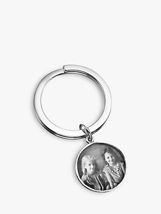 Under the Rose Personalised Photograph Fob Keyring, Large