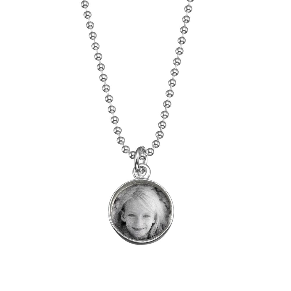 Under The Rose Under the Rose Personalised Tiny Photo Pendant Charm and Necklace