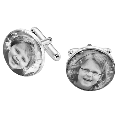 Image of Under the Rose Personalised Photo Cufflinks