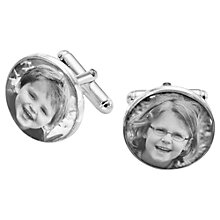 Buy Under the Rose Personalised Photo Cufflinks Online at johnlewis.com