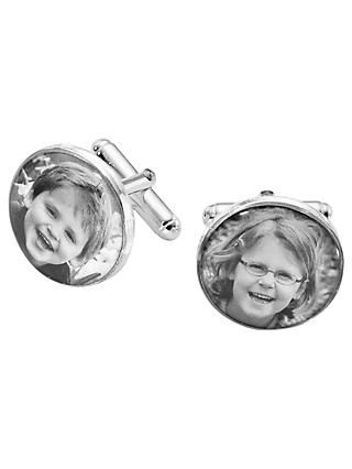 Under the Rose Personalised Photo Cufflinks