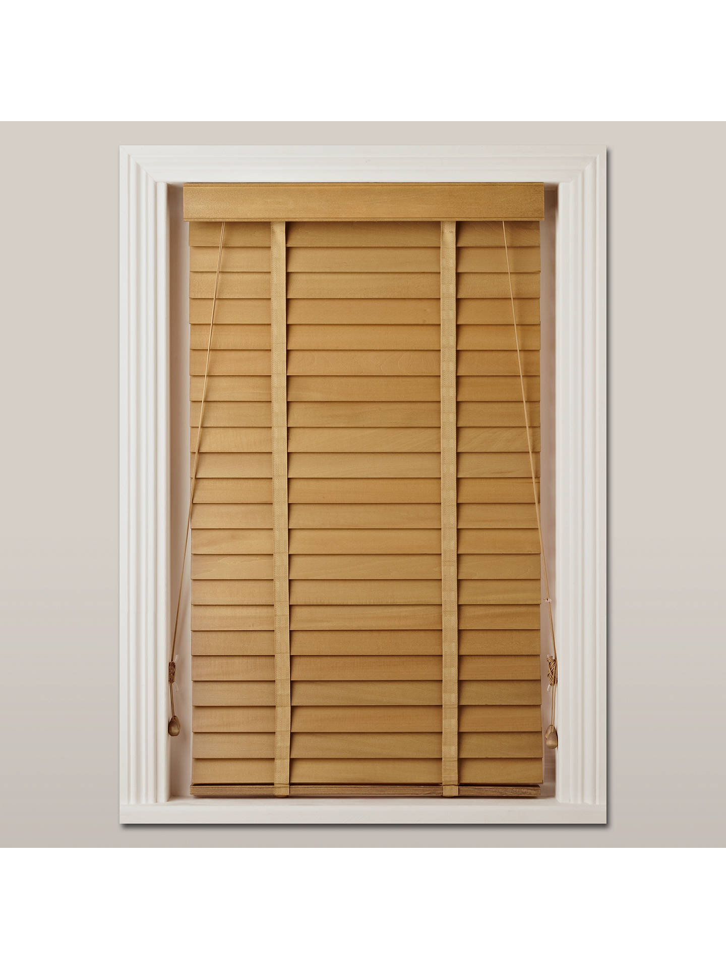 John Lewis Partners Wood Venetian Blind 50mm Fsc Certified At