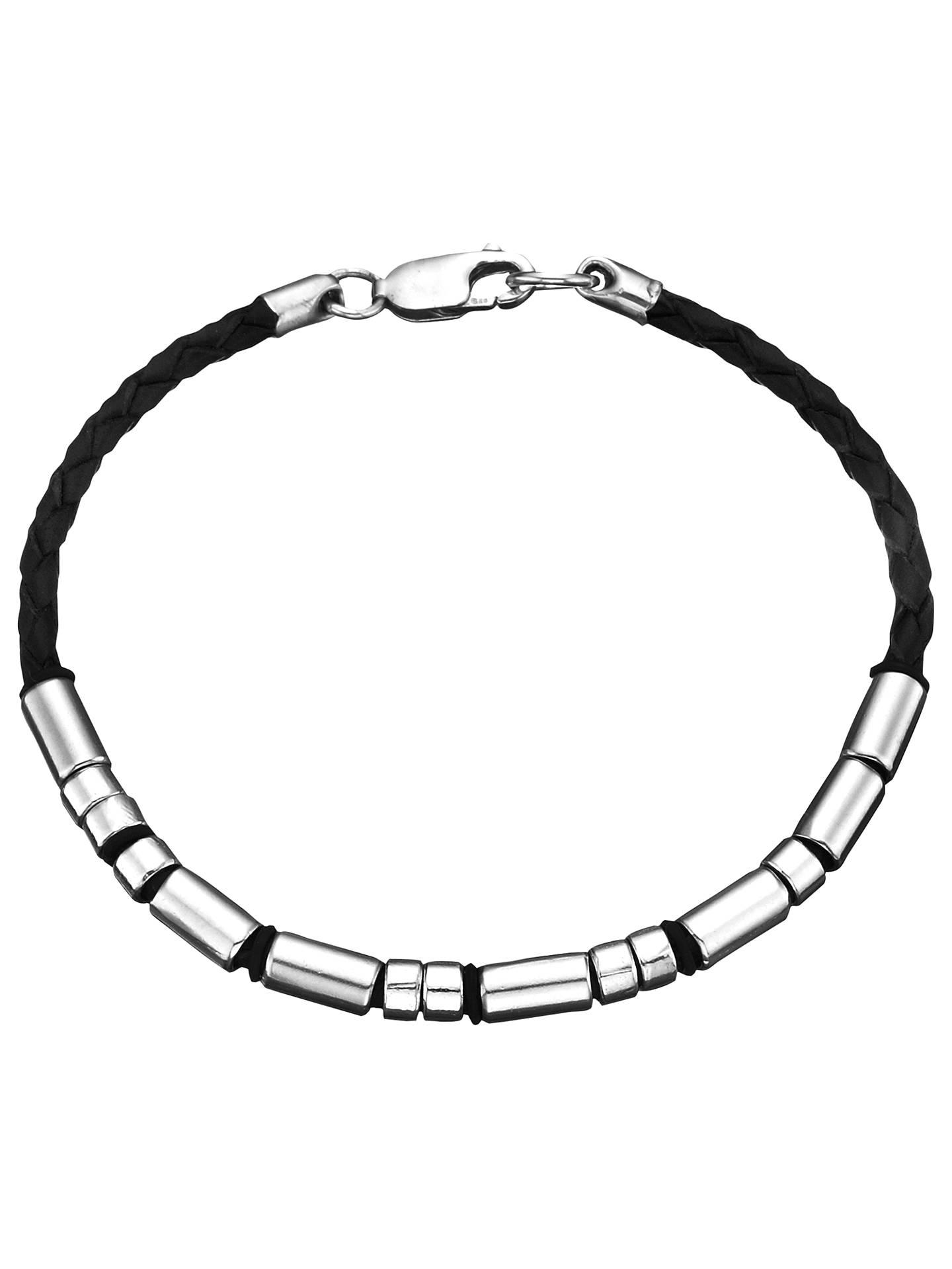 e09bd1d62ee37 Under the Rose Personalised Morse Code Leather Bracelet