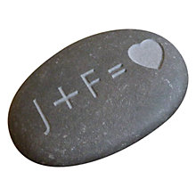 Buy Letterfest Personalised Love Stone, Initials and Heart Online at johnlewis.com