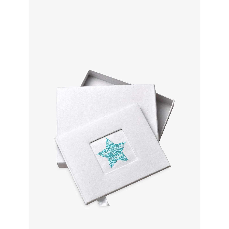 letterfest personalised new baby boy photo album at john lewis