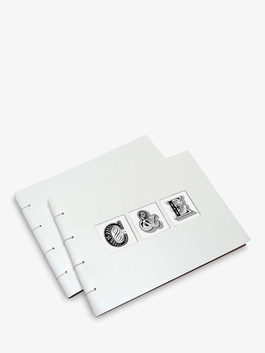 Letterfest Letterfest Leather Wedding Album, White