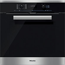 Buy Miele H6260BP PureLine Single Electric Oven, Clean Steel Online at johnlewis.com