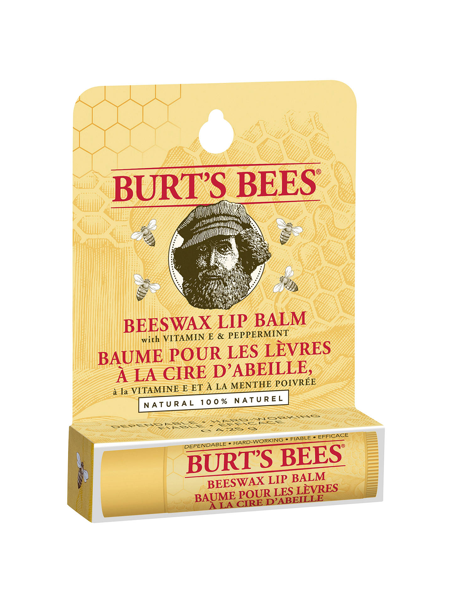 BuyBurt's Bees Beeswax Lip Balm, 4.25g Online at johnlewis.com