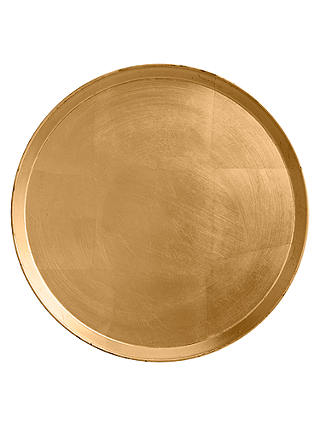 Buy John Lewis Lacquer Round Tray, Dia.35cm, Gold Online at johnlewis.com