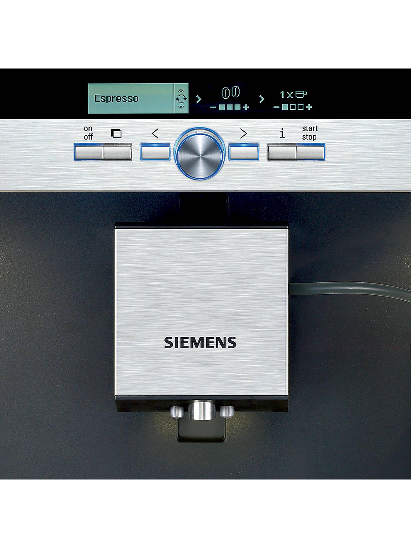 Siemens Tk76k573gb Built In Bean To Cup Coffee Machine